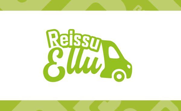 Reissuellun logo, vihreä teksti valkoisella pohjalla